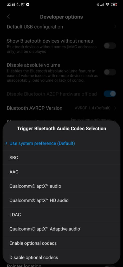 Xiaomi MI 9 SE Bluetooth Audio Codecs | Xiaomi European