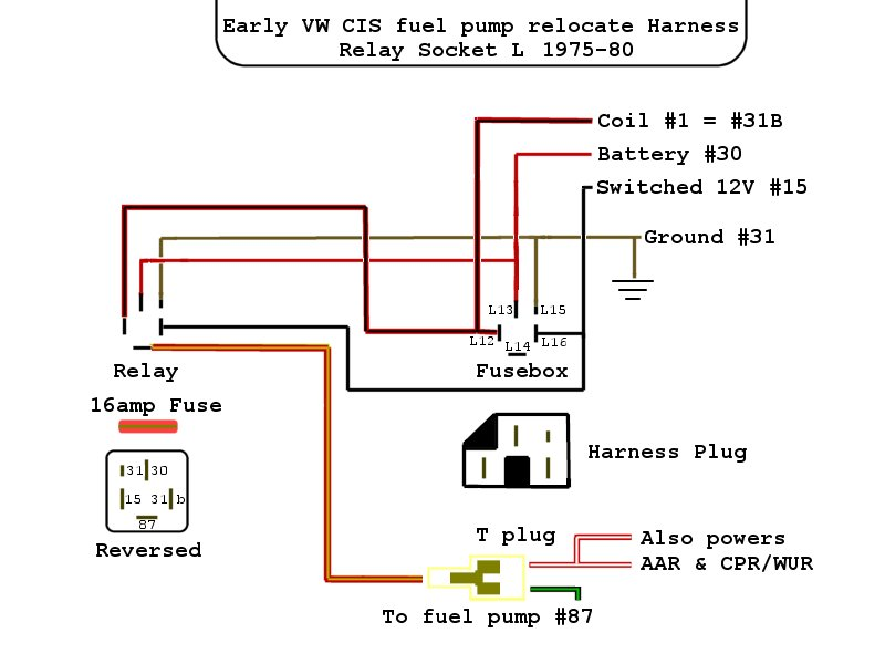 vwvortex com how does the cis fuel pump relay function? Volkswagen Horn Wiring Diagram