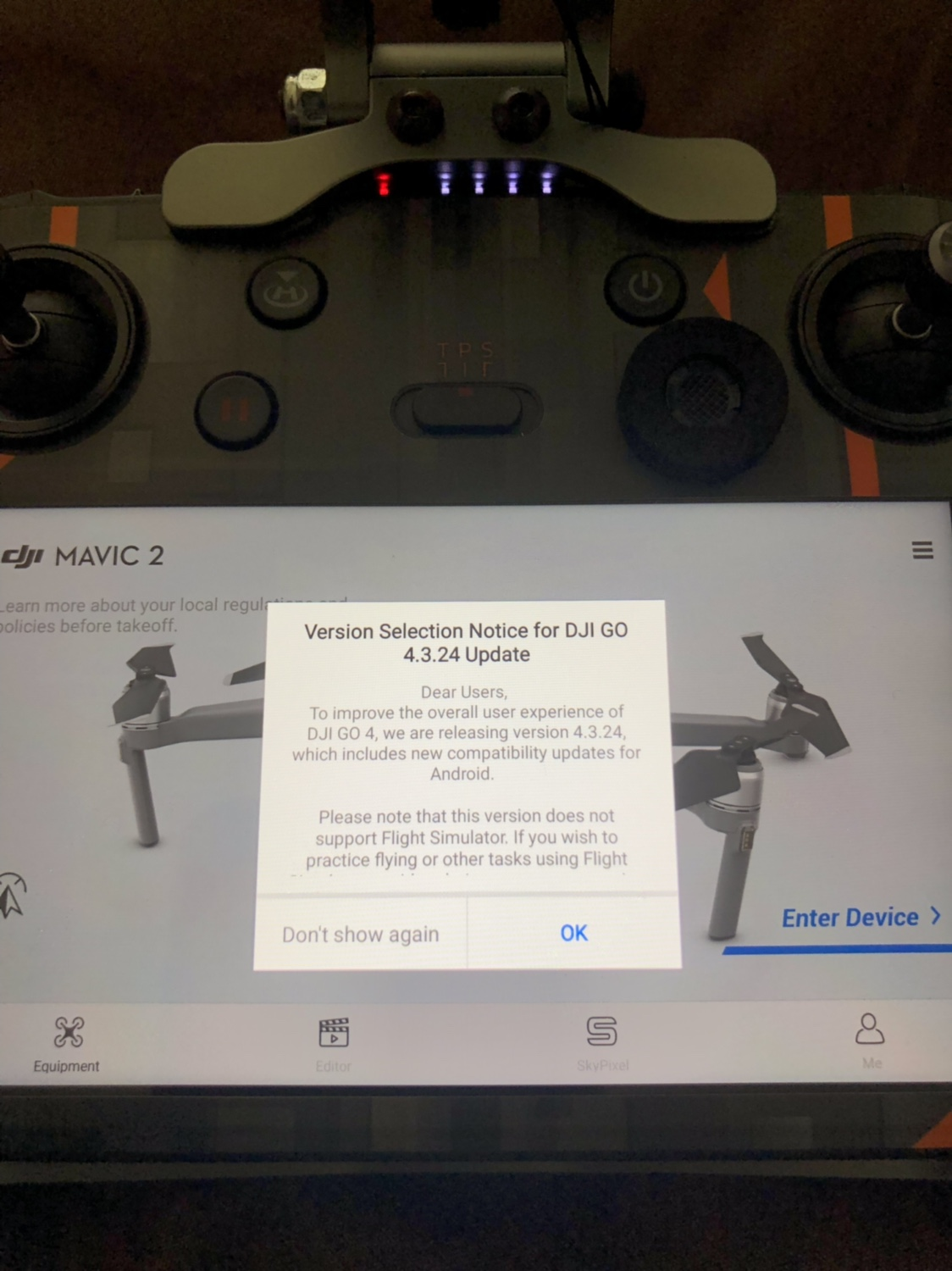new GO4app firmware update is out     v 4 3 24? | DJI Mavic Drone Forum