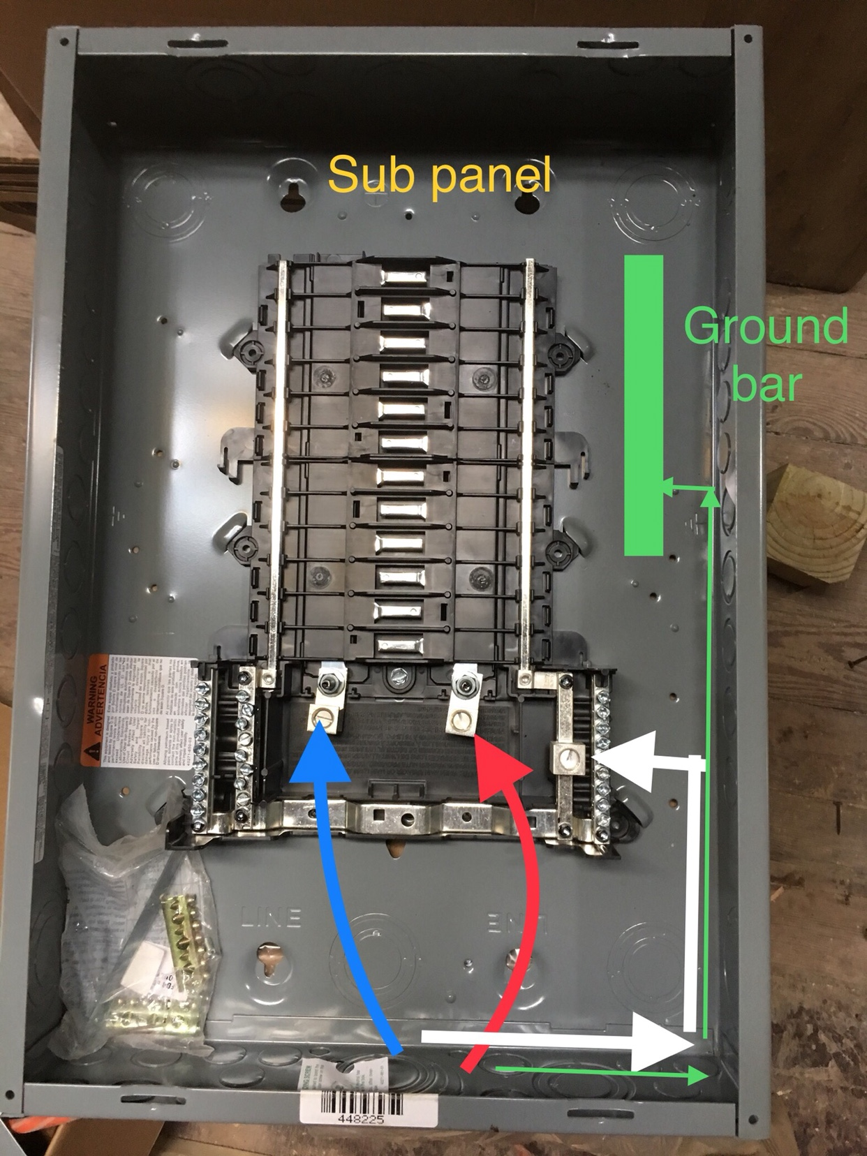 Running Service Wires In A Electrical Panel