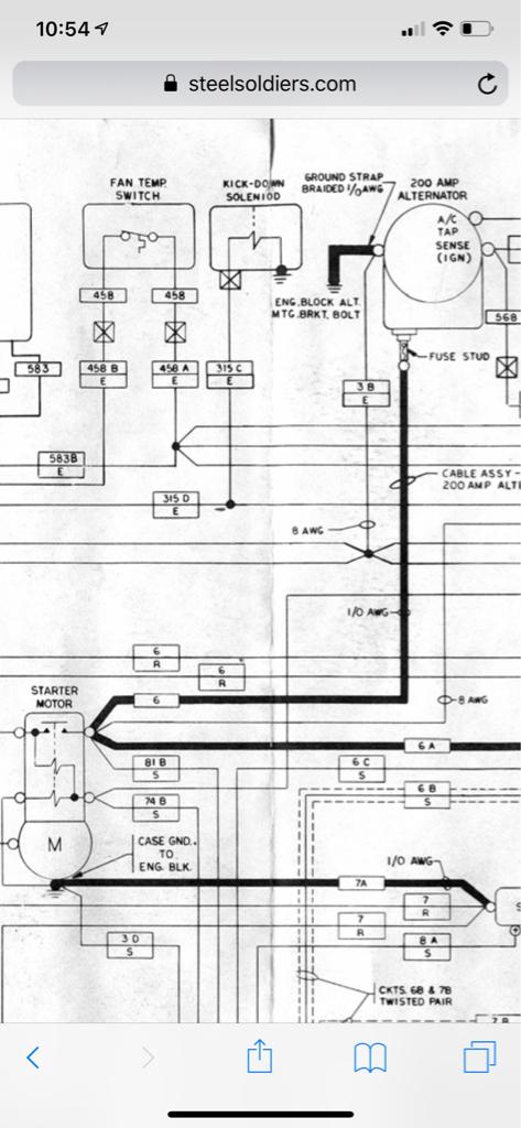 car wiring diagram for alternator and starter hmmwv starter wire to alternator question g503 military vehicle  hmmwv starter wire to alternator