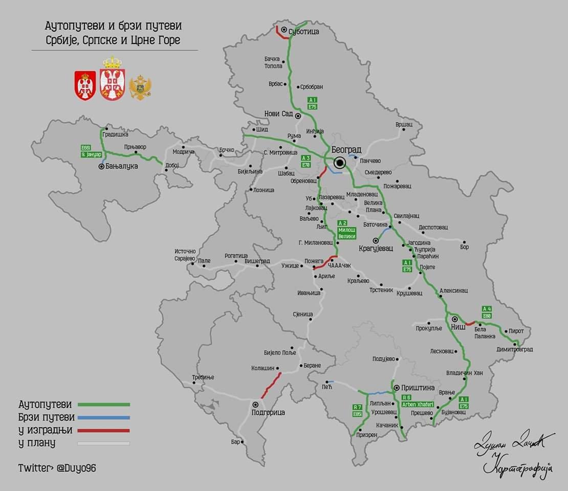 Autoput Milos Veliki A2 Beograd Pozega Boljare Koridor 11