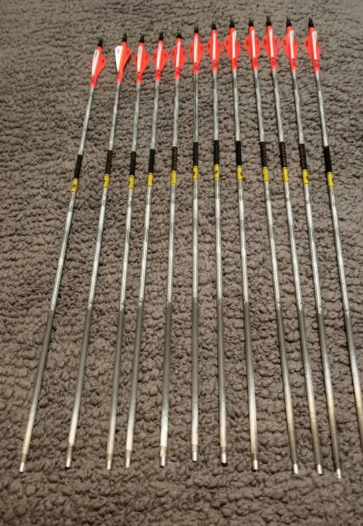Gold Tip Black Label Quantum 340 Spine 6-Pack Bow Hunting Arrows