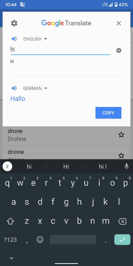 Google Tap to Translate not working with Android 10