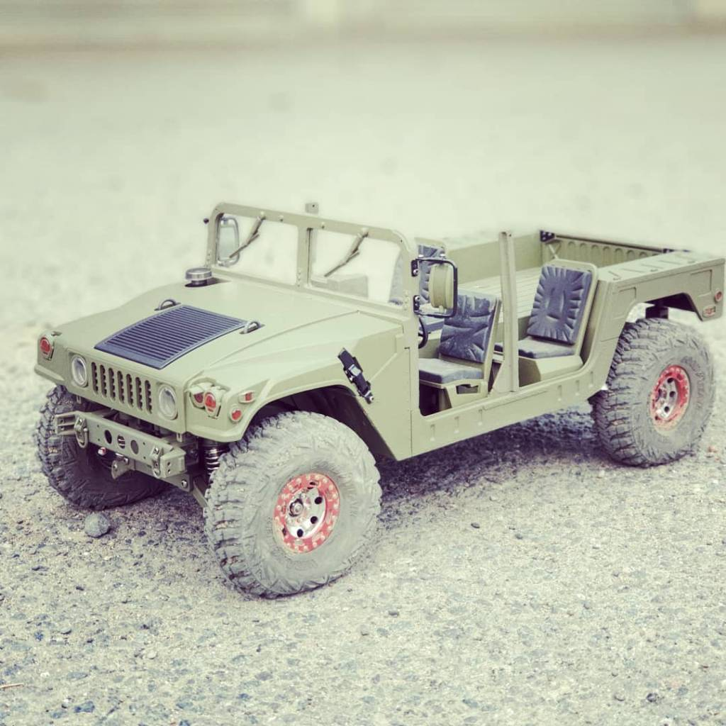 Scalemonkey Stainless steel Rock rails for HG P408 Humvee RC RC4WD Axial