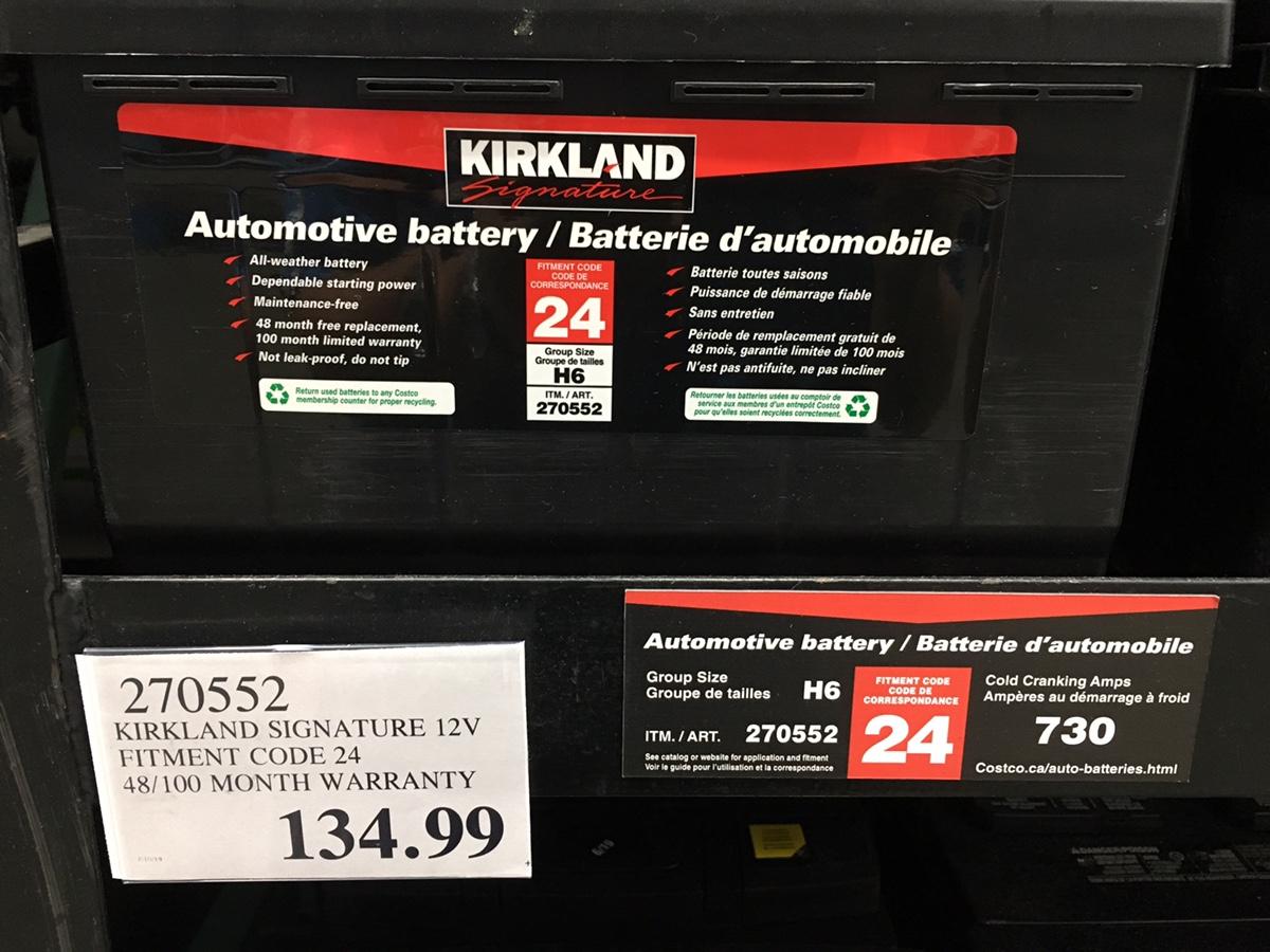 Costco Battery Warranty Canada