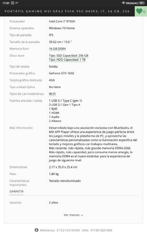 Nuevo portátil entre 800-1000€