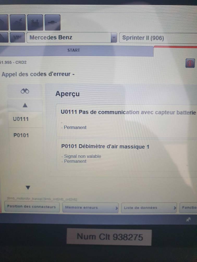 Probleme Debimetre Sprinter 313 Cdi P0101 Tlemcen Car Electronics
