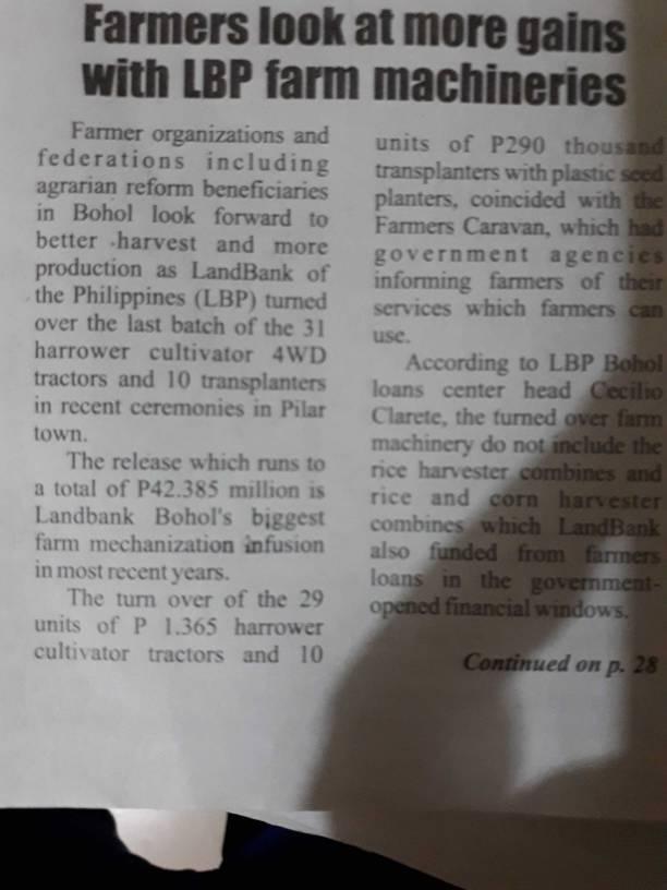 d75e9bb23313015bfb8440cff8dfe4e7 - LBP Farm Machinery - Bohol News Archive