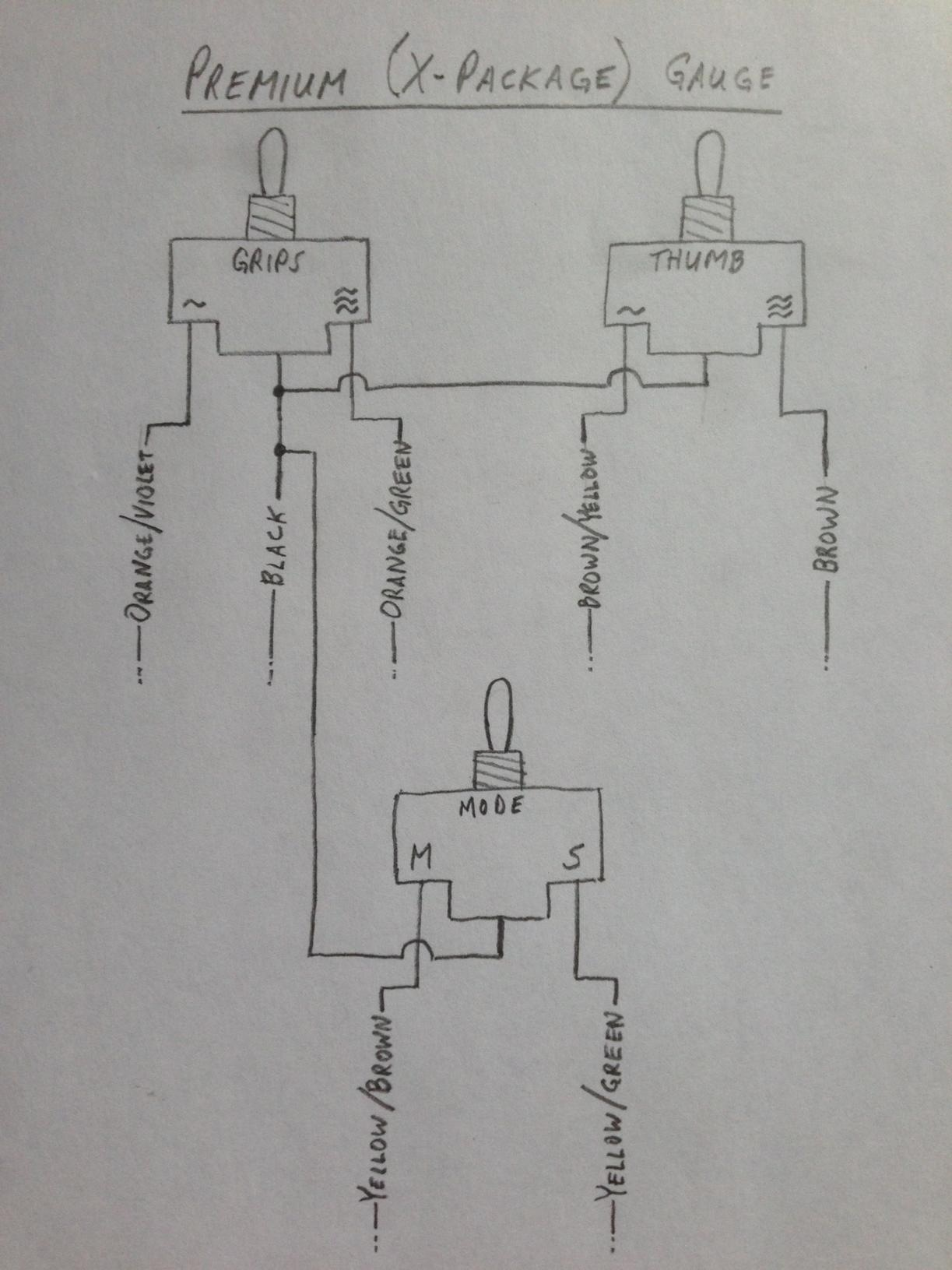 Xp And Xm Wiring Diagrams For New Switches - Rev-xp    Xm Chassis - Mountain Sleds