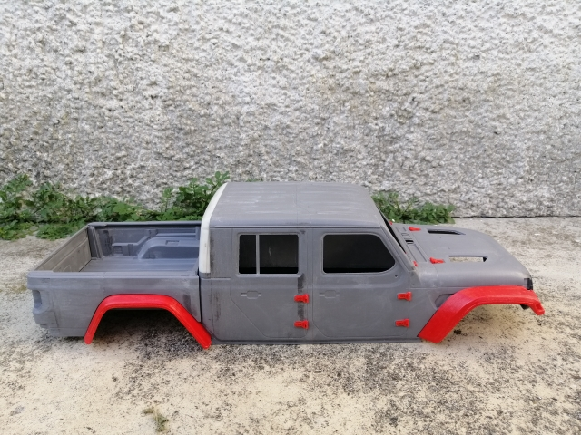 Jeep Gladiator 4 Door 3d Printed