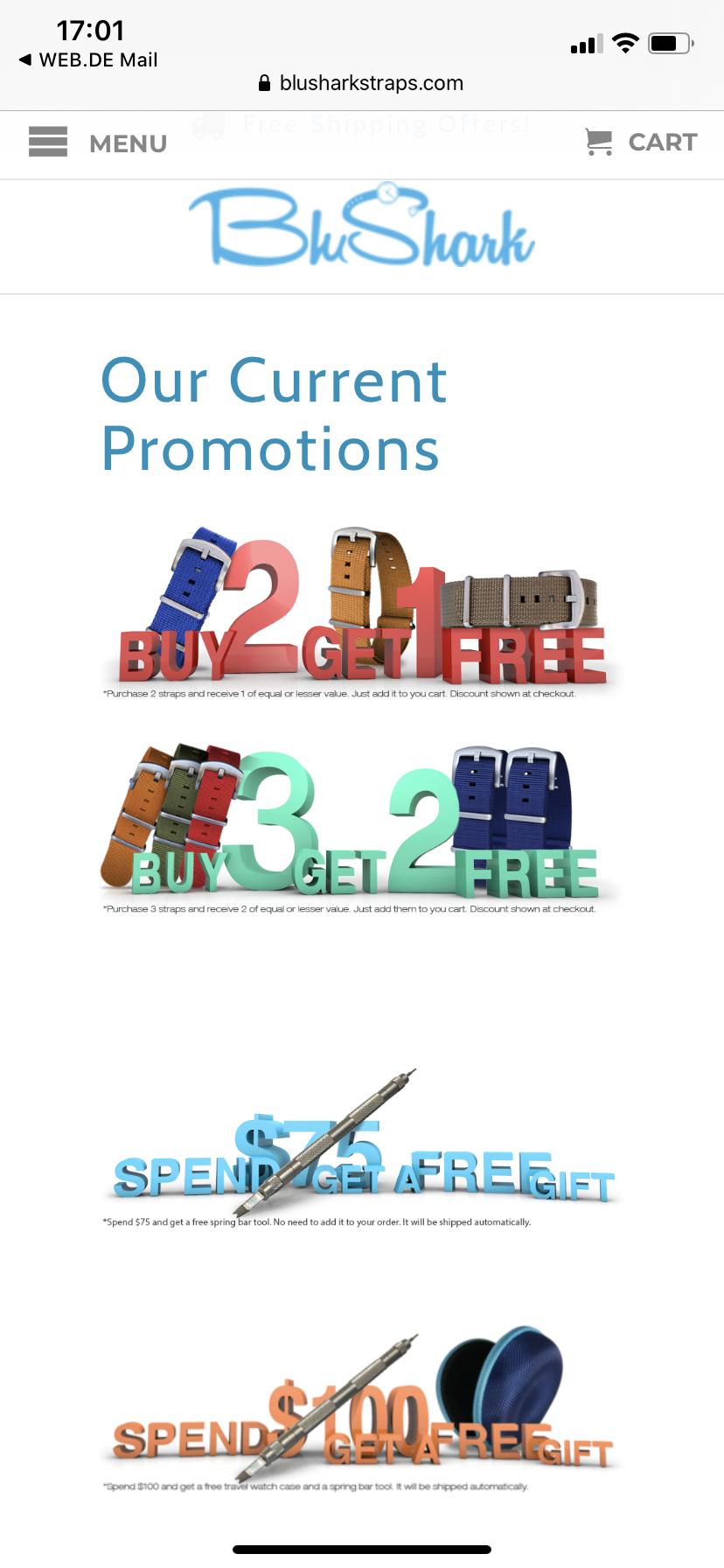 BluShark λουράκια Promotion - Αξεσουάρ / ανταλλακτικά ρολογιών