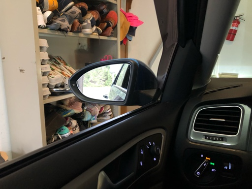 VW SEAT LEFT+RIGHT Passenger Wing Mirror Glass Blue Heated Convex Blind Spot LHD