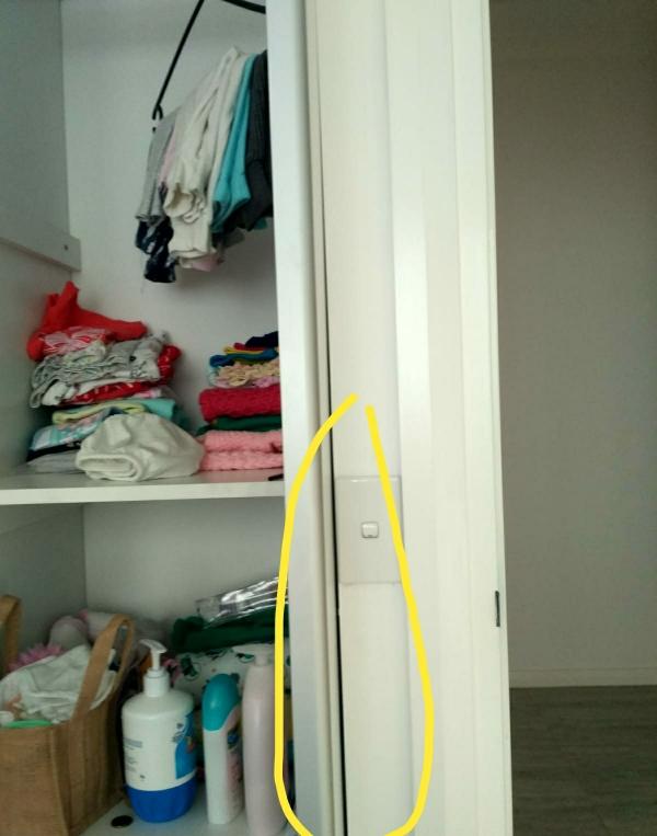 Cover gap between wardrobe and wall