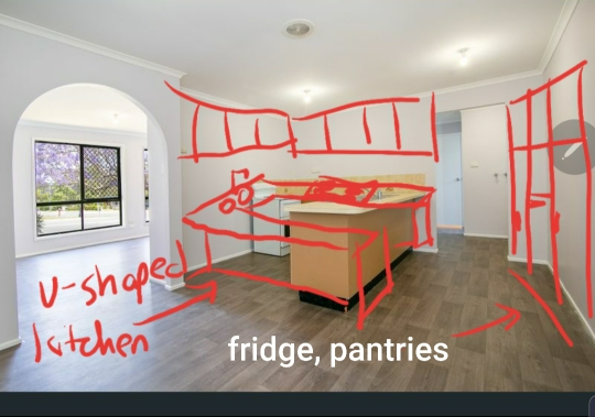 Where would you place kitchen bench?