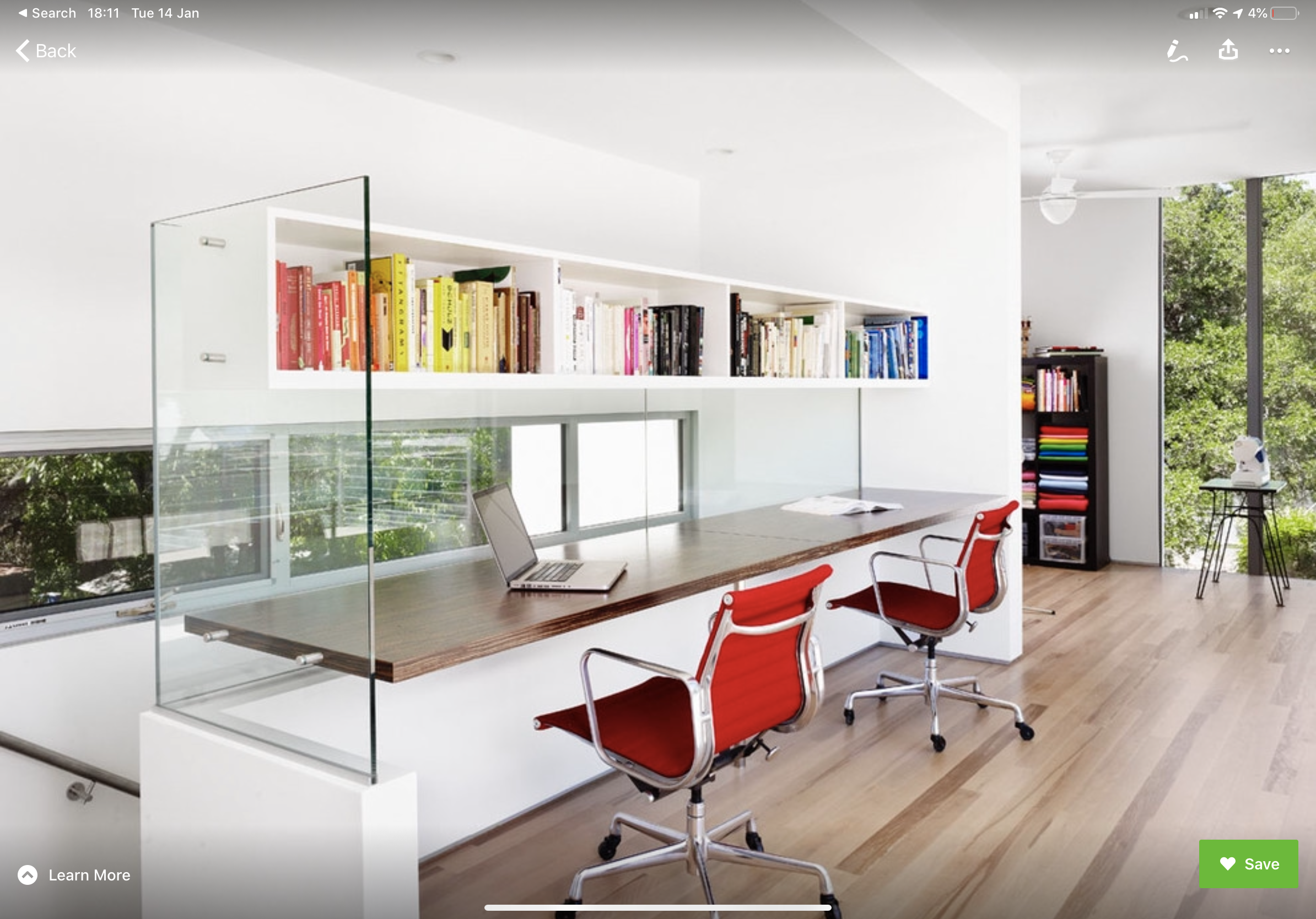 Built in Desk (study nook) material