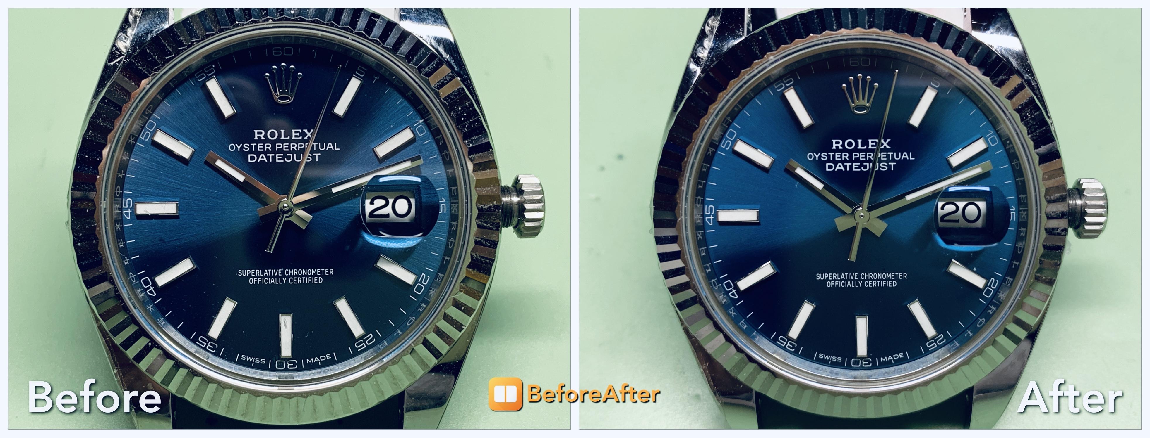 Σύγκριση ARF DateJust 41 με γνήσιο δίσκο ημερομηνίας [πριν-μετά] - Ρολόγια Replica