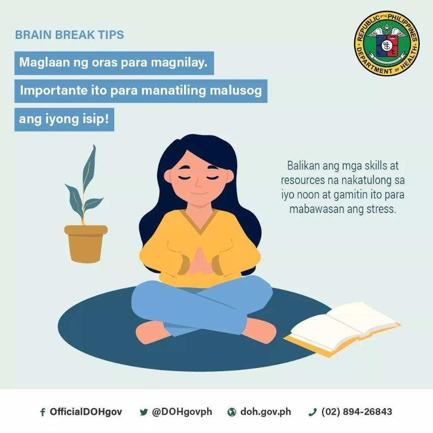 a9d0efdfe15061866dde8a01f90cbab6 - Home Quarantine: Brain Break Tip - Philippine Government