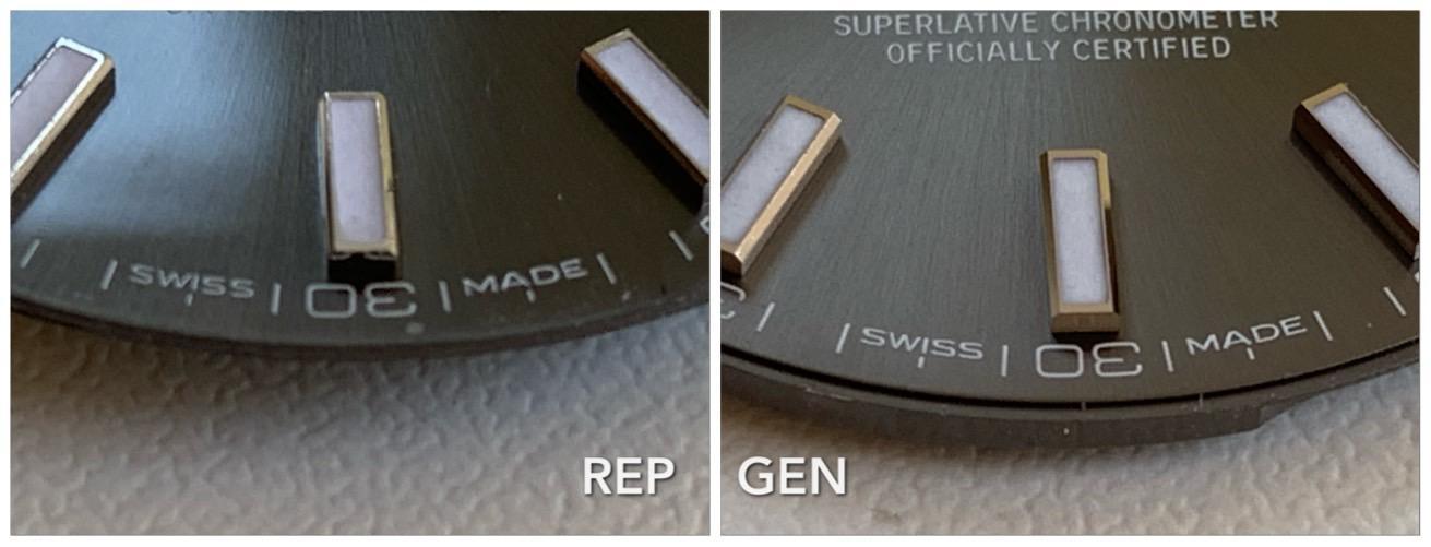 Σύγκριση γνήσιο καντράν DJ41 με ARF - Ρολόγια Replica