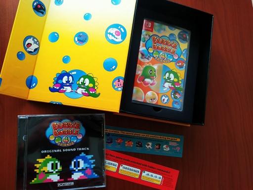 Mini photo παρουσίαση της συλλεκτικής έκδοσης του BUBBLE BOBBLE 4 Friends για το Nintendo Switch