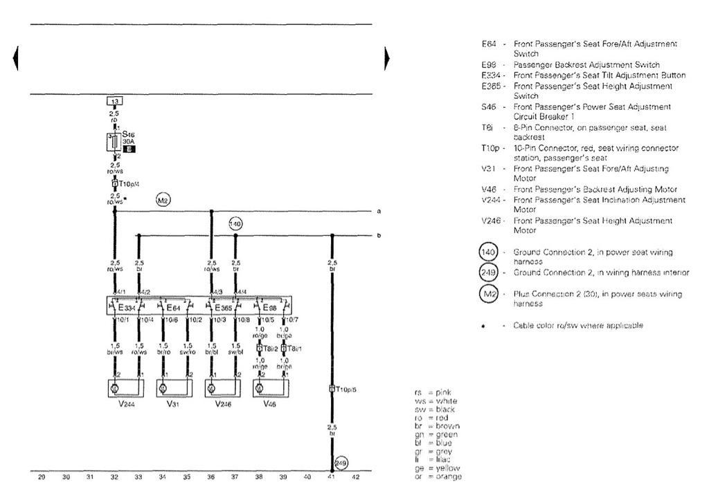 b7 seat wiring diagram  vw vortex  volkswagen forum