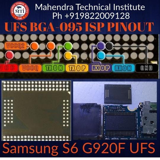 UFS BGA-095 ISP Pinout