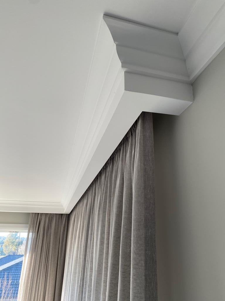 Recessed Curtain Pelmet in the ceiling