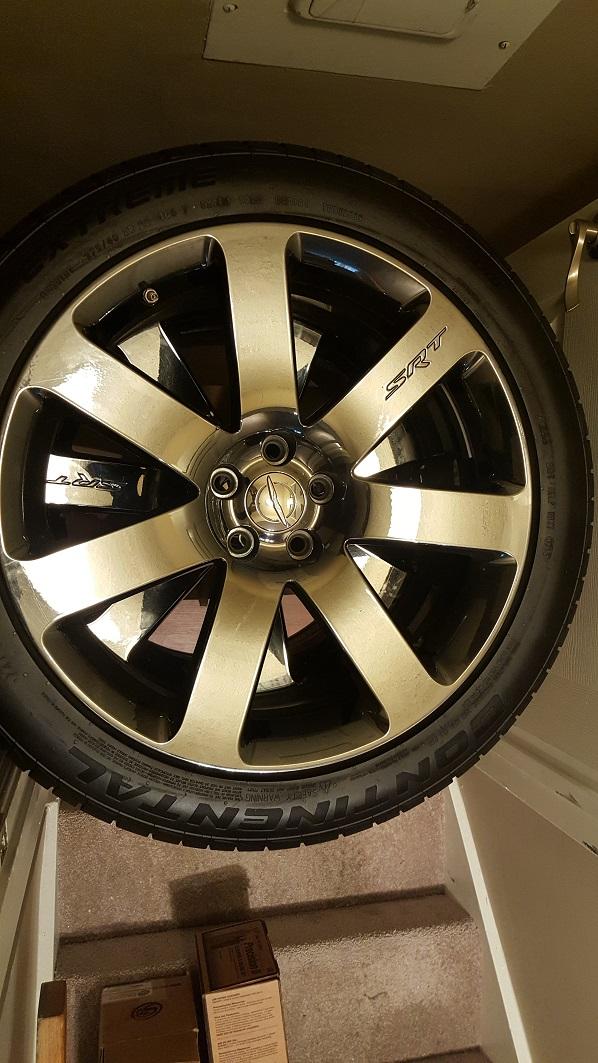 2nd Gen 300 SRT Black Vapor Chrome Wheels & Tires
