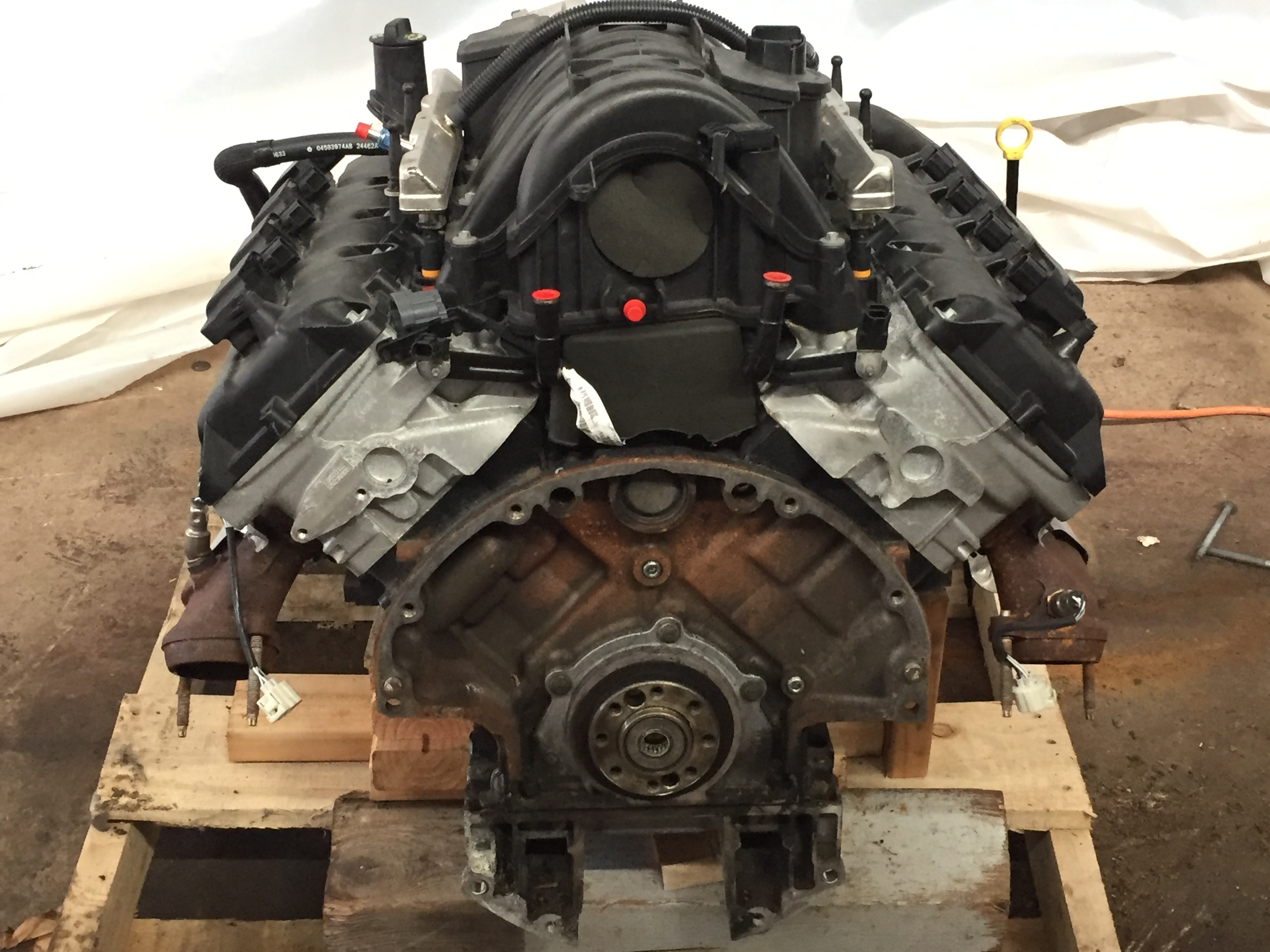 5.7L engine transmission complete take-out