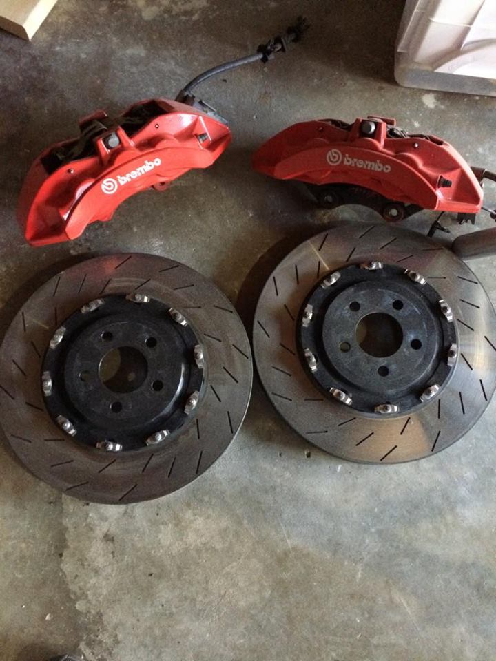 Cyber Monday update! BREMBO 6 Piston Hellcat Calipers and Rotors RED Free Spindles wi