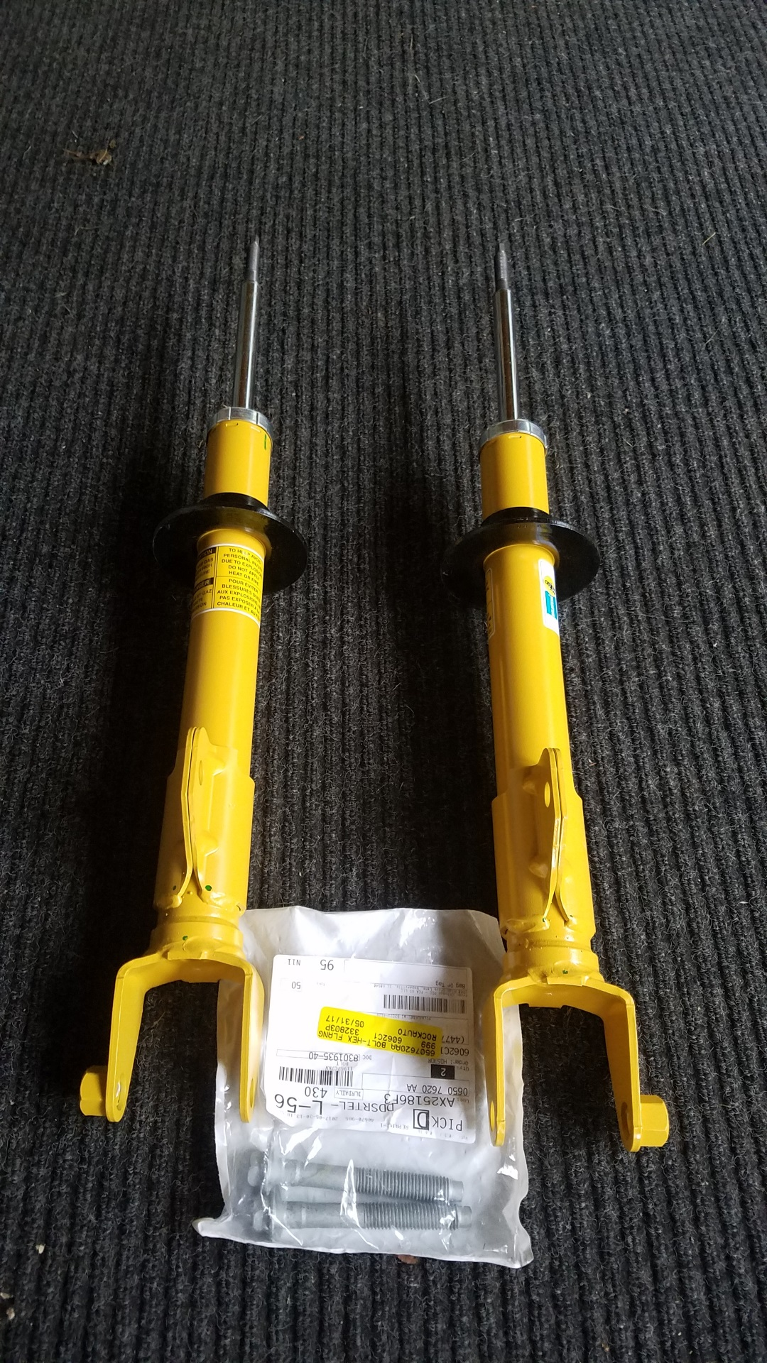For Sale Bilstein Front Struts And Bolts For 2011 Rwd