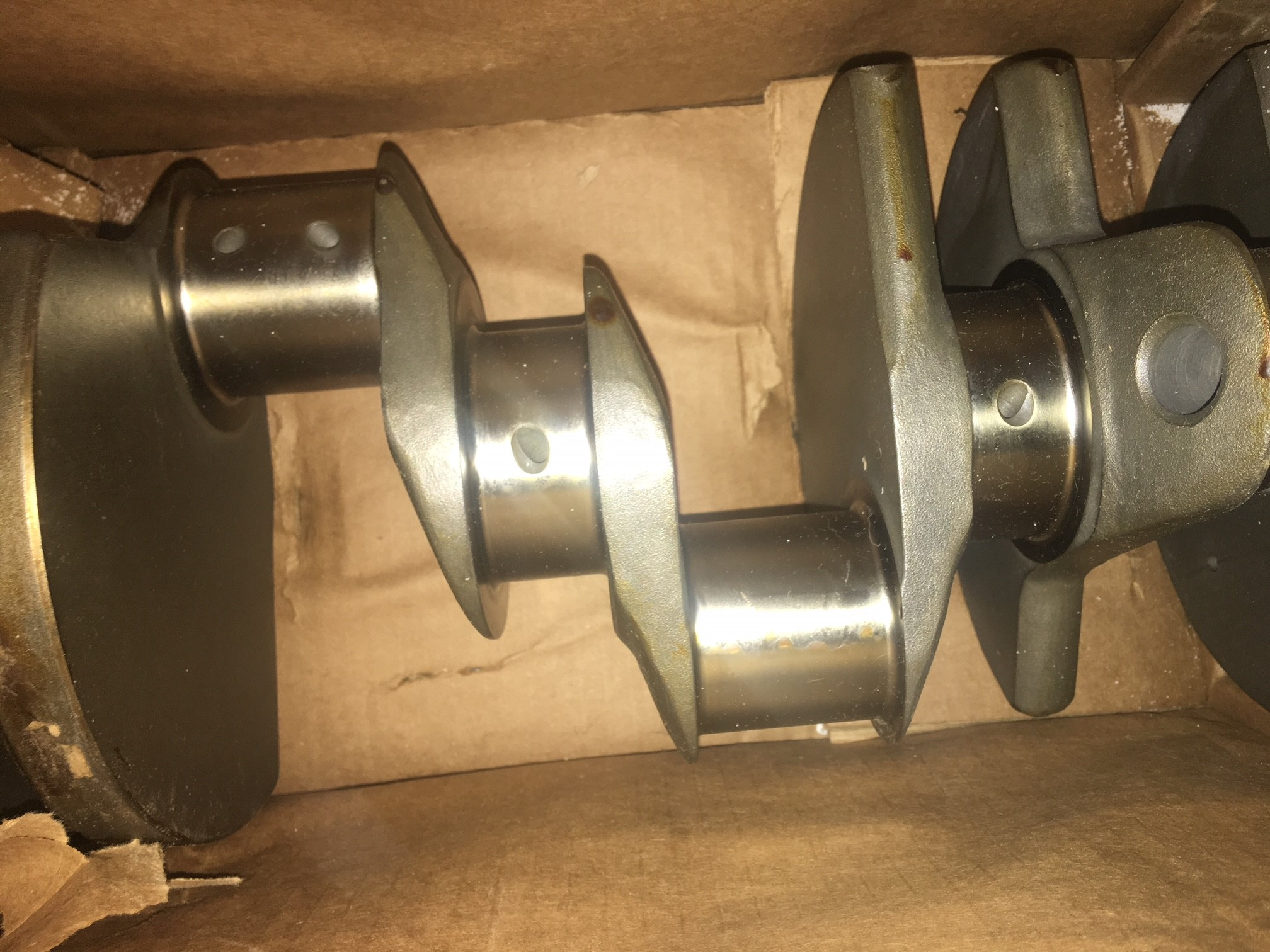 Mopar forged crankshaft and forged pistons