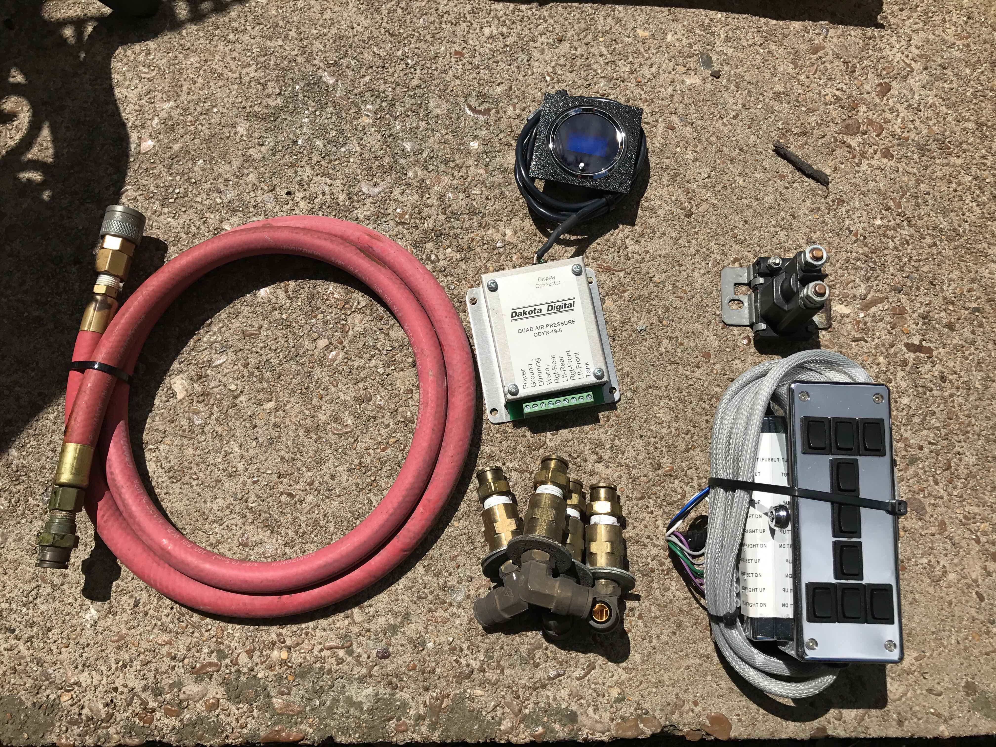 1st Gen LX Universal Air System w/Guage and Custom Switch Plate