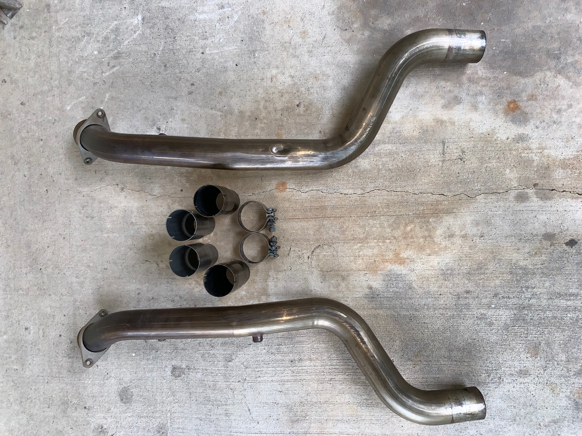 Stainless Works Catless Mid Pipes, SRT Manifold, Tazer
