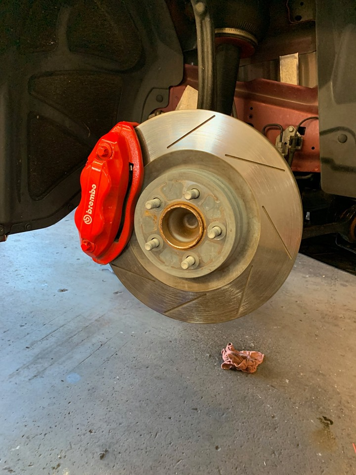 Front Brembo Calipers And Rotors