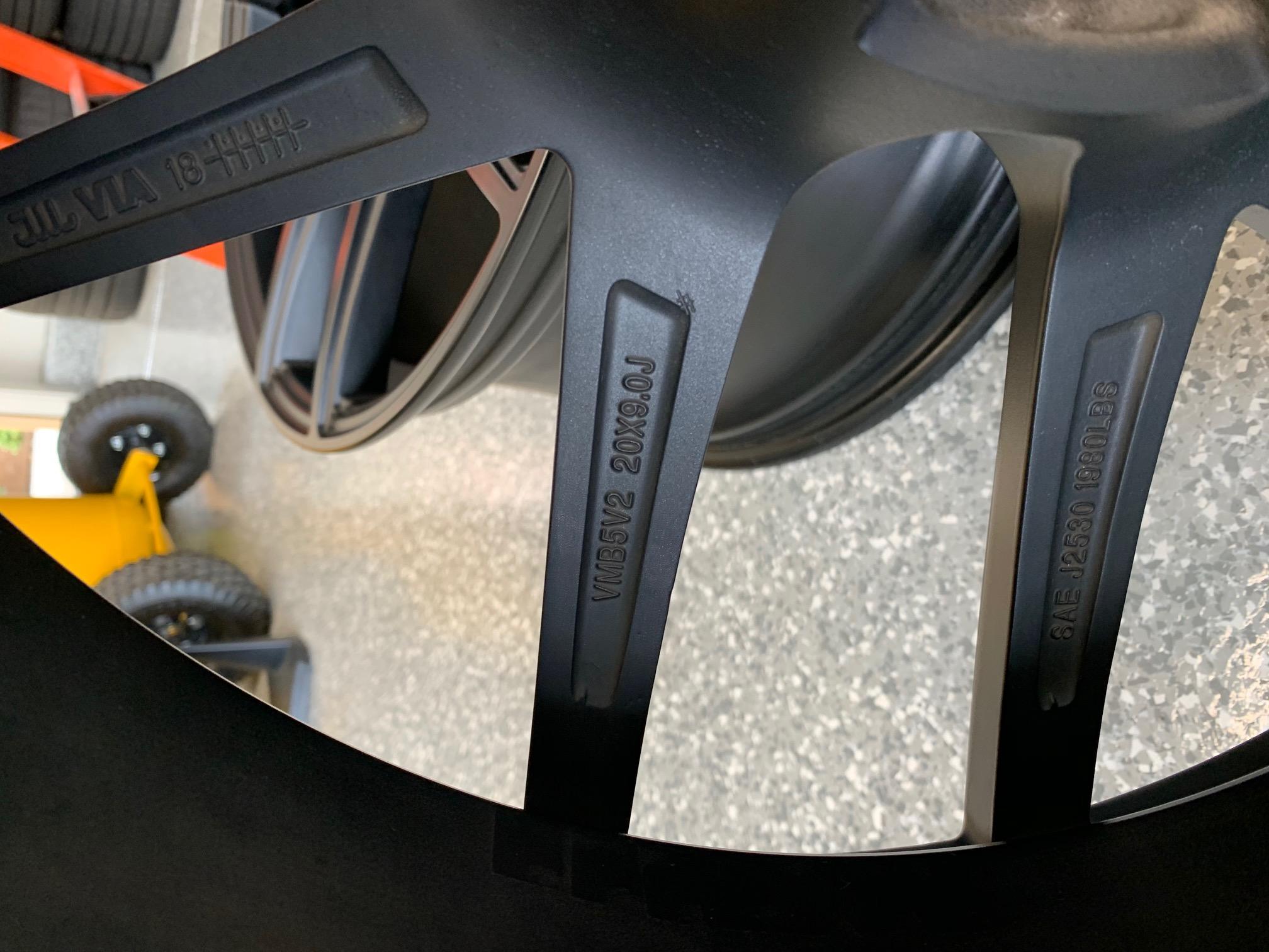 Velgen VMB5 Staggered 20x9, 20x10.5 Matte Black Wheels