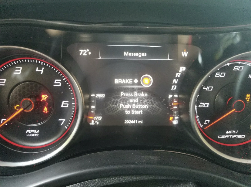 2016 Dodge Charger 160mph cluster