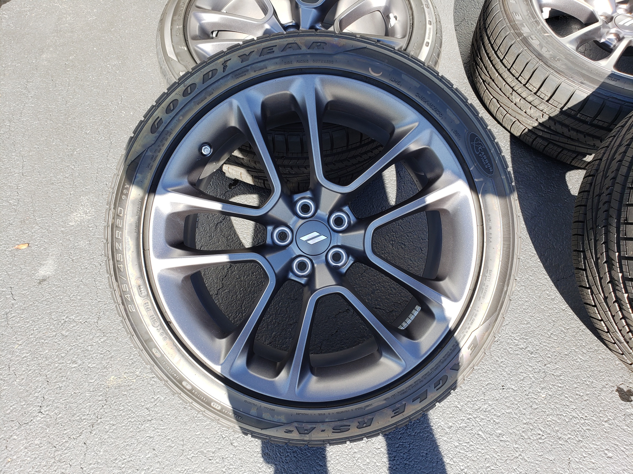 Like new 2020 oe scatpack wheels and tires!